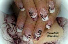 Gel nail art.