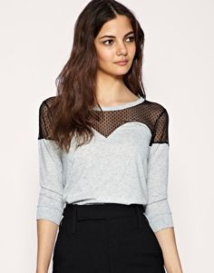 This top is edgy yet not reaviling!I like!