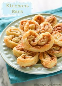 Named for their shape, these Elephant Ears are layers of puff pastry with cinnamon and sugar. Only four ingredients to make this tasty treat...