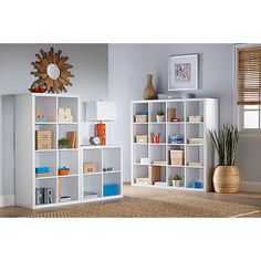 Brenton Studio Cube Bookcase 8 Cube 52 39 H x 27 38 W x 14 78 D White by Office Depot & OfficeMax