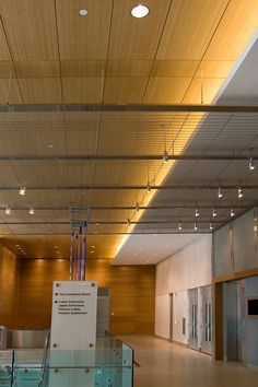 Stearns College. Architectural Wire Mesh Ceiling made of HAVER Architectural Mesh DOGLA-TRIO.