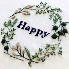 Happy herbal embroidery