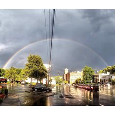 The rainbow after yesterday's storm in Atlanta, Georgia! Here's to a happy Wednesday! : Jim Schroder  #myPCM #atlanta #rainbow #ATL #poncecitymarket