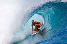 6x ASP Women's World Champion Stephanie Gilmore locked into a pretty one in Indonesia