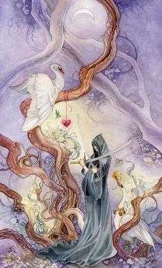 Thực hư Lá Three of Swords - Shadowscapes Tarot bài tarot Xem thêm tại http://tarot.vn/la-three-of-swords-shadowscapes-tarot/