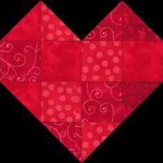 Love block:  This is a new block of the month with a Valentine or love theme. Quilt-along at Fun Threads,