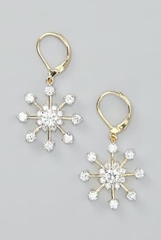 Silver & Gold Snowflake Earrings