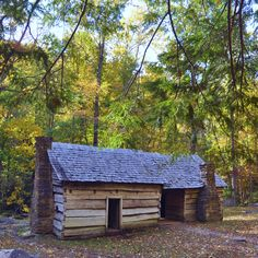 Historic cabin in the Smoky Mountains