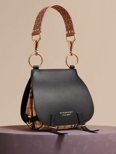 633b5559c66 The Bridle Bag in Leather, Haymarket Check and Alligator Versace, Backpack  Bags, Style