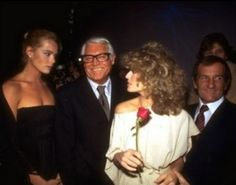 Margaux Hemingway, Cary Grant, and Farrah Fawcett at Studio 54