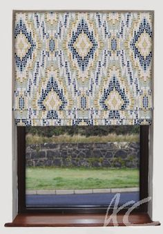 #Artiste #Mosaic #Mineral #Roman #Blind #Blue #New #Home #Velvet #Curtains
