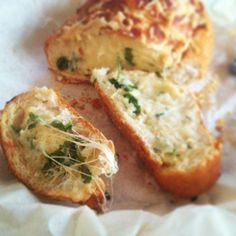 Instant hit. Easy Cheesey Garlic Bread Cheesey Garlic Bread, Garlic Cheese Bread, Diy Food, Baked Potato, Recipe Ideas, Ethnic Recipes, Health, Easy, Posts