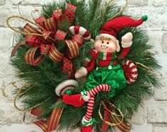 Christmas Wreath for Door Snowman Wreath by AdorabellaWreaths