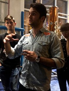 CH bartender Zach Heller explaining the difference between infusions and distilling during CH Cocktail Class: Mixology 101