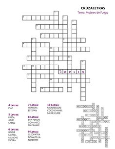 We've all done crossword puzzles. This worksheet is a