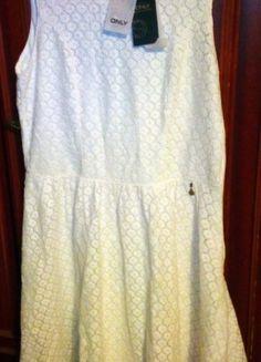 Kup mój przedmiot na #vintedpl http://www.vinted.pl/damska-odziez/sukienki-midi/20797848-nowa-sukienka-z-koronki-r42-kolor-ecru-only