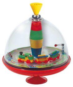 Ein Muss in jedem Kinderzimmer:Der Panoramakreisel Eisenbahnfasziniert Kinder über mehrere Jahre hinweg.