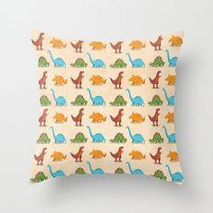 Dinosaur Pillow Cover  by krankykrab