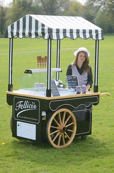 Ice cream cart available from Fellici's ( www.fellicis.co.uk)