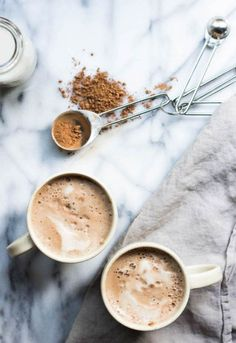 Vegan Hot Chocolate with Maca (always use organic soy products)