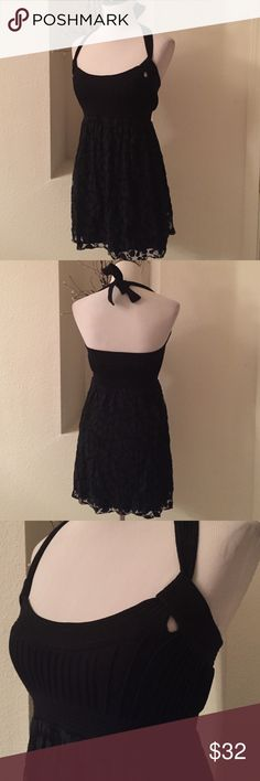 "Mini LBD Halter, empire waist and flirty skirt.  Mini 31"" long from shoulder to hem.  laying flat 13""-15"" waist. Paige Dresses Mini"