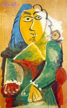 Pablo Picasso - Man Sitting in a Chair 2, 1969
