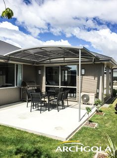 Looking to extend your living space? Add an Archgola to your home and it's like adding a new room, for a fraction of the price. Archgola awnings are custom-made to your style and budget. Customise your Archgola awning design, frame colours and roof tints, to achieve the shade and shelter you're looking for. Call us now on 0508 272 446 for a FREE measure & quote. Outdoor Awnings, Roof Shapes, Outdoor Shelters, Outdoor Shade, Outdoor Areas, New Room, Living Spaces, Your Style, Budget