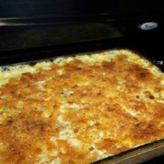 Chuck's Favorite Mac and Cheese Allrecipes.com- sub ricotta for cottage cheese, add 4 oz cream cheese, more macaroni, stir salt, pepper, garlic powder and Italian seasoning (1tsp dry mustard) into cheesy mixture before stiring in macaroni. Sprinkle with Panko crumbs and spray them with parm and bake @ 400 for 20 min. Could also add cooked broccoli with macaroni for more nutrition. YUMMY!!