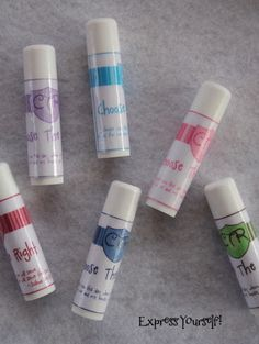 express yourself!: 2012 Primary Theme Chapstick Labels