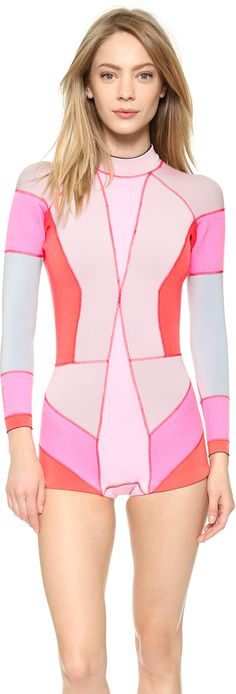 CYNTHIA ROWLEY COLORBLOCK WETSUIT  So nice and Pink !!