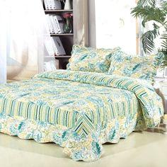 bedding set 230 230 cm printed flower plant cording pattern polyester fiber patchwork quilt comforter pillow cases bedclothes home textiles