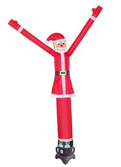 Torero Inflatables Air Dancer 10-Feet Tall Fly Guy Red Santa Tube Man Inflatable Sky Dancer Attachment