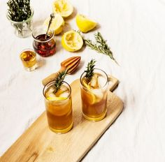 Herbal Cocktail to Try: Maple Bourbon Cocktail with Rosemary