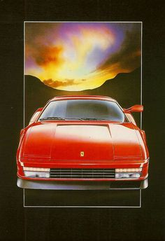 Image result for 80's car commercial sunset