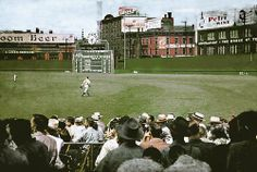 1946: Color shot of #Reds' Crosley Field: