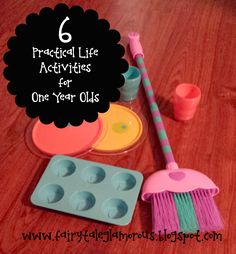 6 Practical Life Activities for One Year Olds (that allow you to get things done around the house as well!)