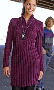 Платье-пуловер свекольного цвета