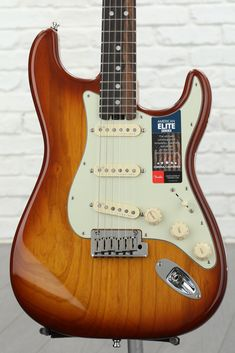 Stratocaster Elite - Tobacco Sunburst w/ Ebony Fingerboard American Standard Stratocaster, Fender American, Stratocaster Guitar, Fender Guitars, Electric Guitars, Blue, Music Instruments, Hookahs, Musicals