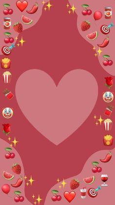Cute Emoji Wallpaper, Diy Wallpaper, Heart Wallpaper, Cute Wallpaper Backgrounds, Cartoon Wallpaper, Cute Wallpapers, Instagram Blog, Photo Instagram, Happy Birthday Template