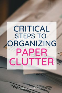 Paper clutter is such a problem in most homes. Keep reading to solve your paper clutter problems now! Clutter Organization, Small Space Organization, Recipe Organization, Paper Organization, Organization Ideas, Declutter Your Mind, Organize Your Life, Life Hacks Shopping, Daily Papers