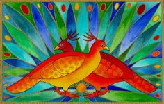 'Firebirds'  by Cathy Connolley. Her artwork is available from Caitlihne on Etsy. See http://www.cathyconnolley.com/