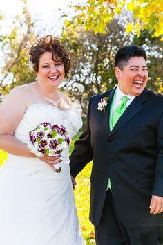 Christina & G #lesbian couple #gay wedding #happy!