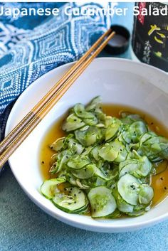 Japanese Cucumber Salad aka Sunomono is a healthy, super simple and highly refreshing side dish. Thinly sliced cucumbers are marinated in a simple yet complex vinegar sauce.#salad #Japanese #cucumbers www.foodfidelity.com Healthy Asian Recipes, Healthy Side Dishes, Side Dish Recipes, Salad Dressing Recipes, Salad Recipes, Veggie Recipes, Japanese Cucumber Salad, Great Recipes, Recipe Ideas