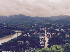 Luang Prabang in Laos Top of Phou Si mountain