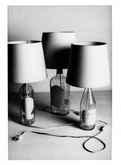 Wine bottle lamps.