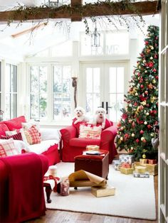 """Christmas coziest living rooms"""