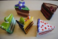 From Nicole Sisco Heller, a  middle school art teacher in New York.  This is part of an exploration of Theibaud.  I'd love for my students to make these delicious looking boxes!