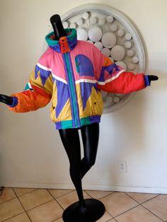 1980s Ski Jacket Vintage 80s Ski Party MOD by elliemayhems on Etsy, $99.00