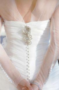 Pronovias Silk Tulle Bolero Wedding Dress