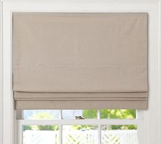 Flax Linen Cordless Roman Shade with Blackout Lining - Blackout lining is important for sleeping during the day. Sometimes Andy works 3rd shift.